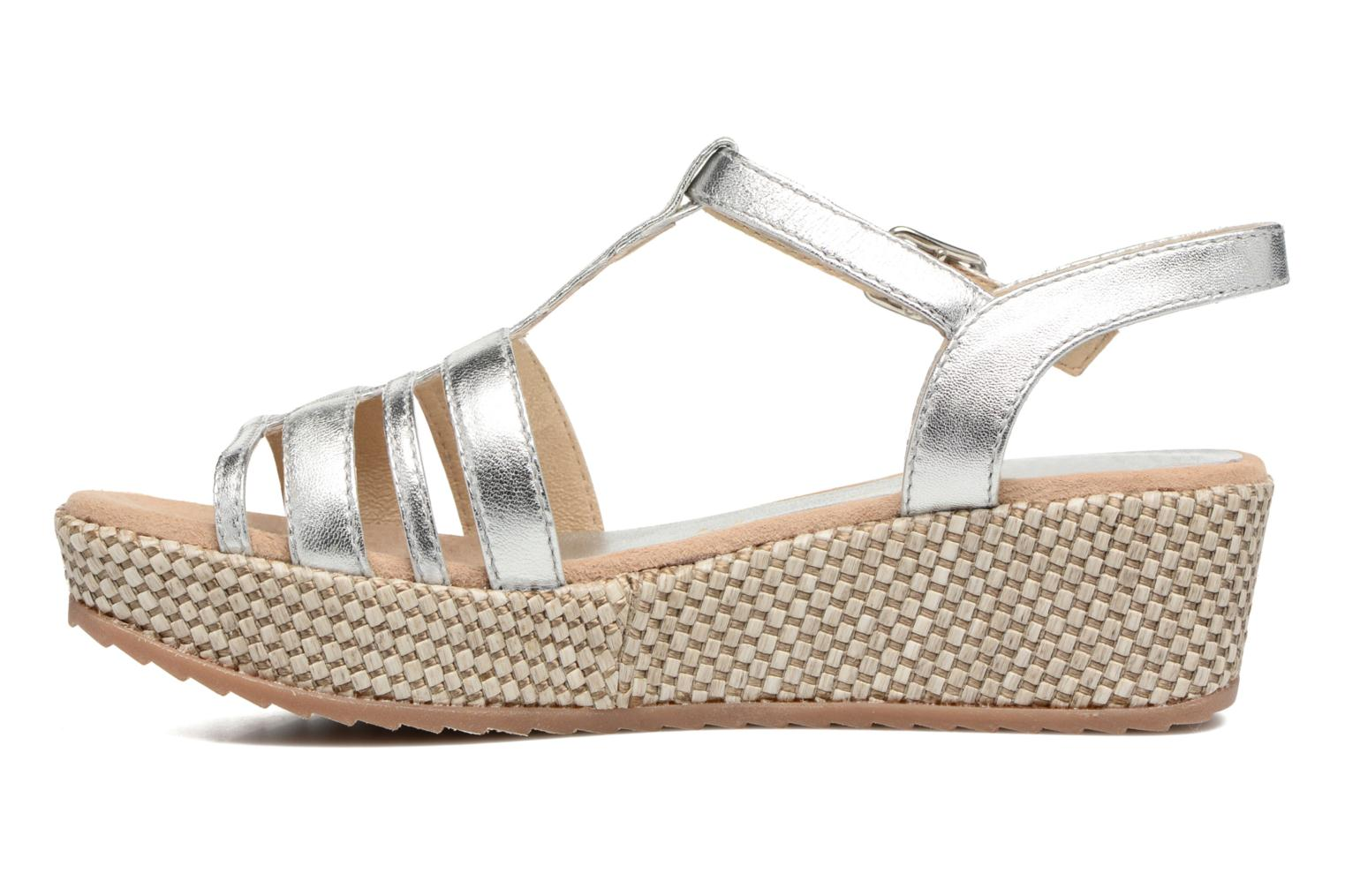 Sandals Unisa Ticor Silver front view