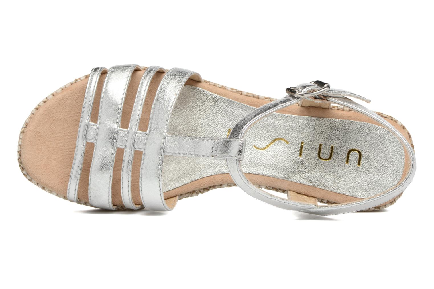 Sandals Unisa Ticor Silver view from the left