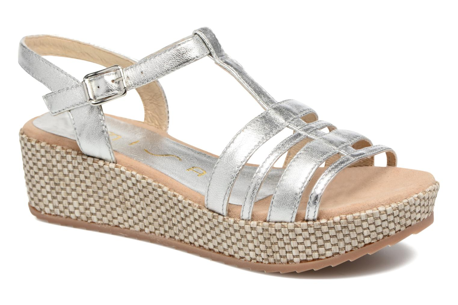 Sandals Unisa Ticor Silver detailed view/ Pair view