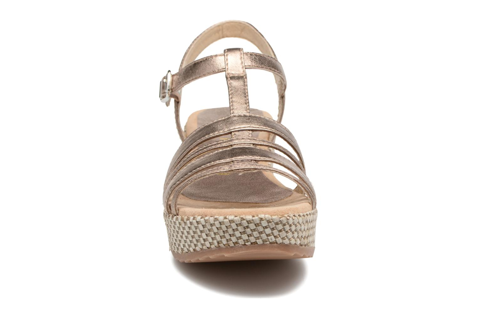Sandals Unisa Ticor Bronze and Gold model view