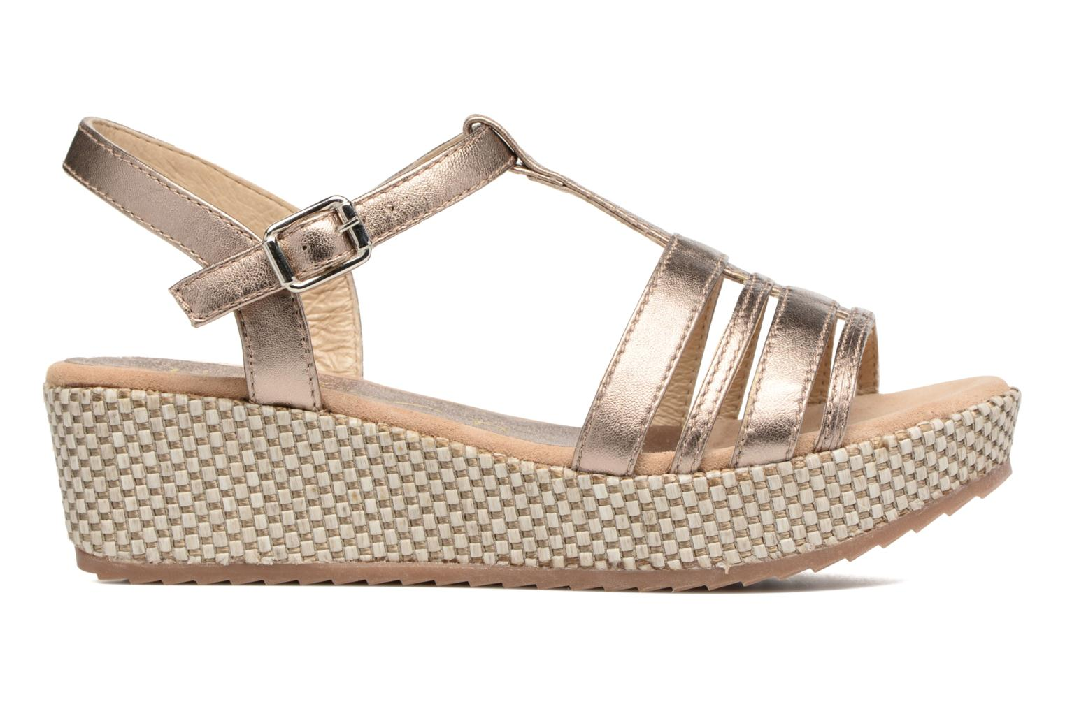 Sandals Unisa Ticor Bronze and Gold back view