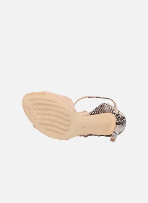 Sandales et nu-pieds Guess Amee Beige vue haut