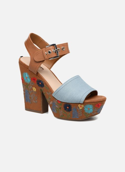 Sandals Guess Caralin2 Brown detailed view/ Pair view