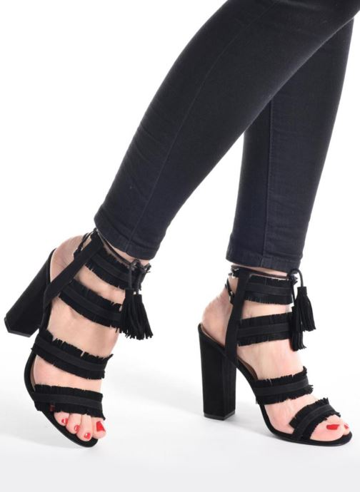 Sandales et nu-pieds Guess Econi Noir vue bas / vue portée sac