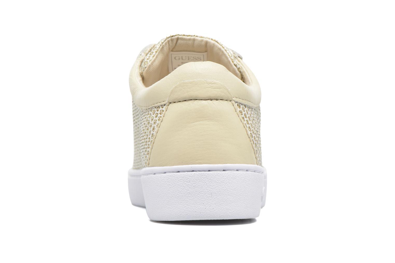 Sneakers Guess Glinna 2 Guld og bronze Se fra højre