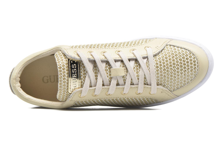 Sneakers Guess Glinna 2 Guld og bronze se fra venstre