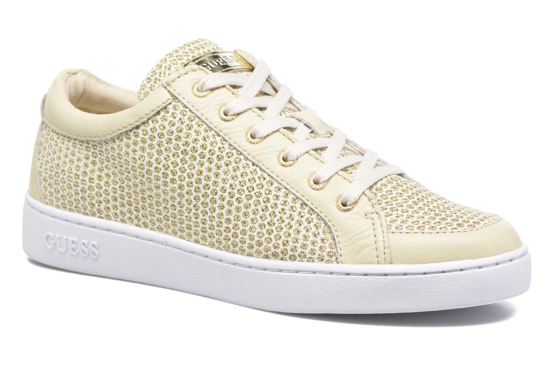 Sneakers Guess Glinna 2 Guld og bronze detaljeret billede af skoene