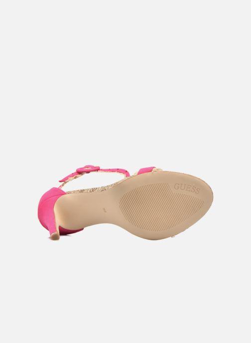 Sandales et nu-pieds Guess Petra Rose vue haut