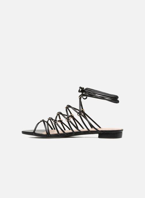 Sandales et nu-pieds Guess Racha Noir vue face