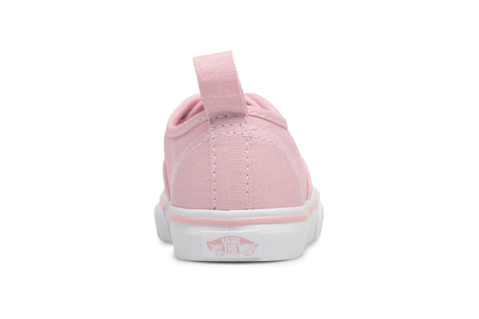Trainers Vans Authentic Elastic Lace BB Pink back view