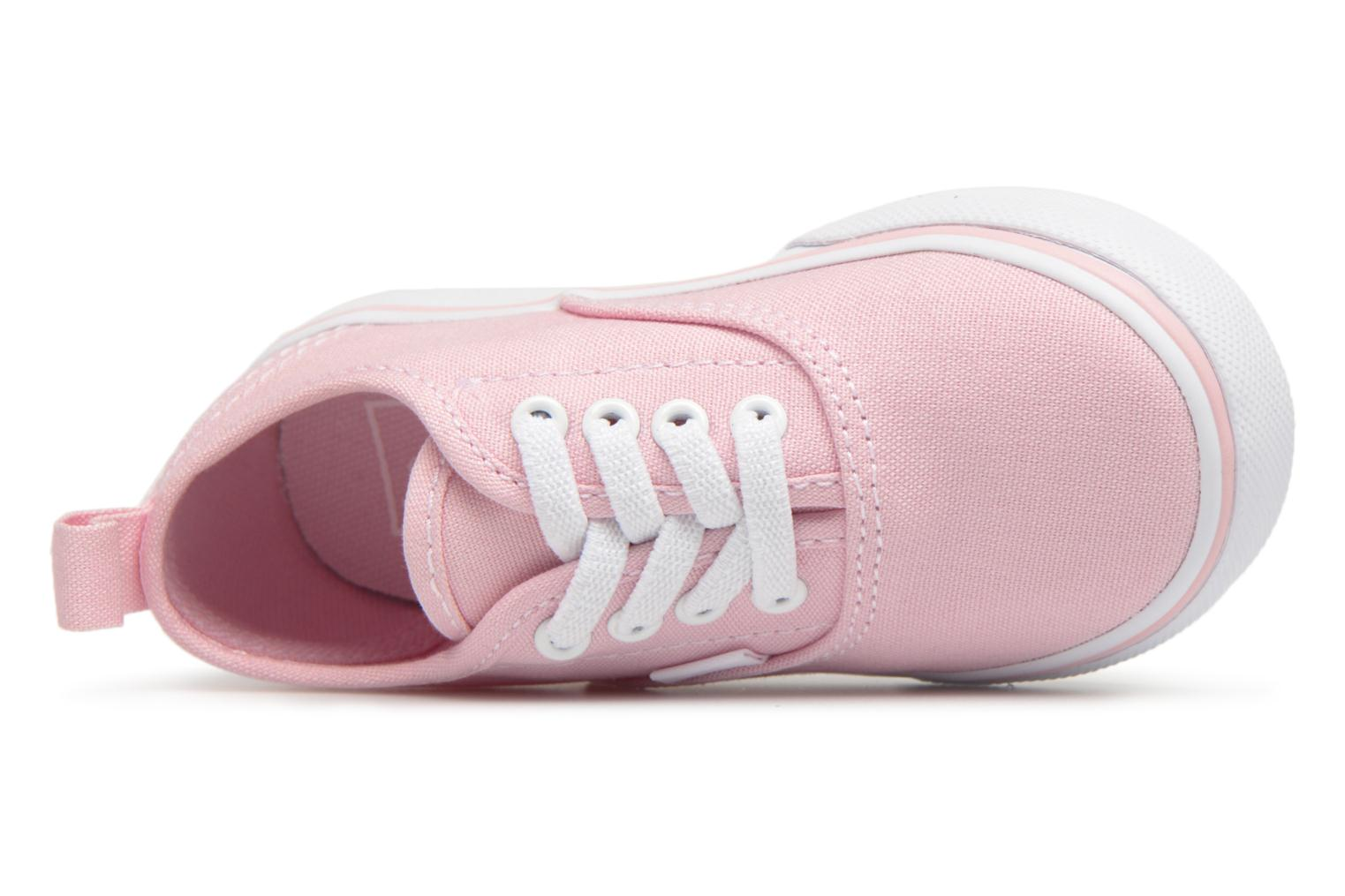 Trainers Vans Authentic Elastic Lace BB Pink view from the left