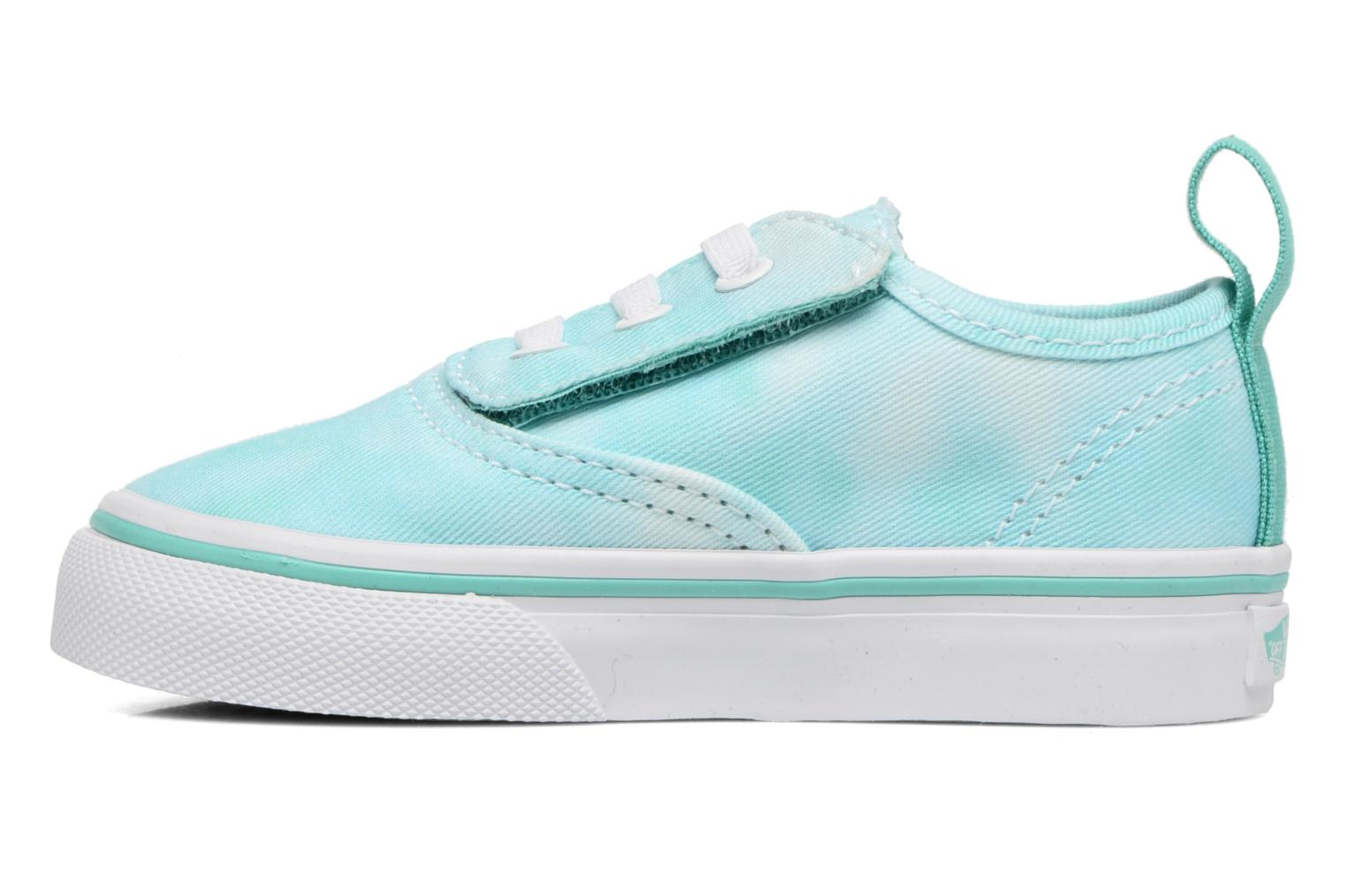 Baskets Vans Authentic V Lace BB Bleu vue face