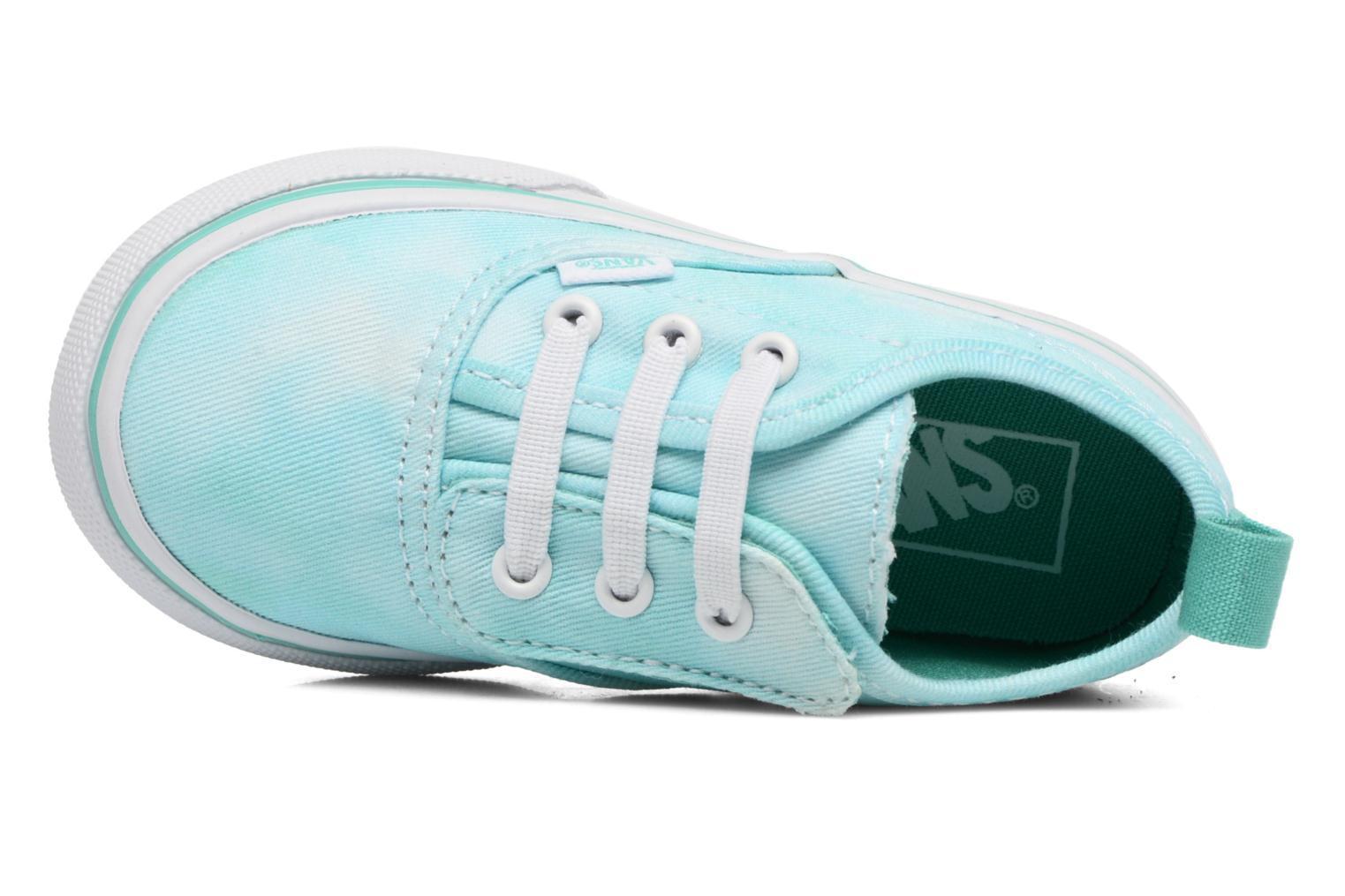 Baskets Vans Authentic V Lace BB Bleu vue gauche
