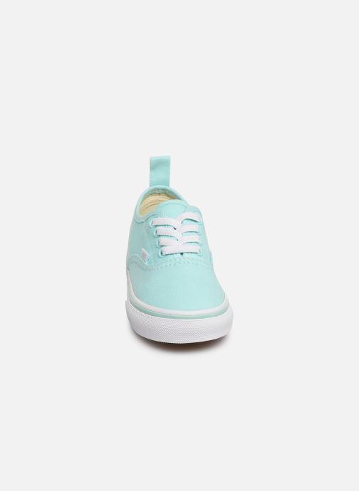 Baskets Vans Authentic Elastic Lace Bleu vue portées chaussures