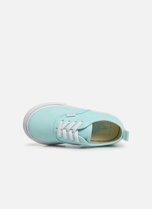 Baskets Vans Authentic Elastic Lace Bleu vue gauche