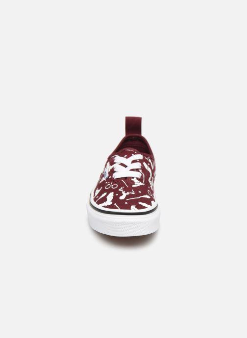 Baskets Vans Authentic Elastic Lace Bordeaux vue portées chaussures