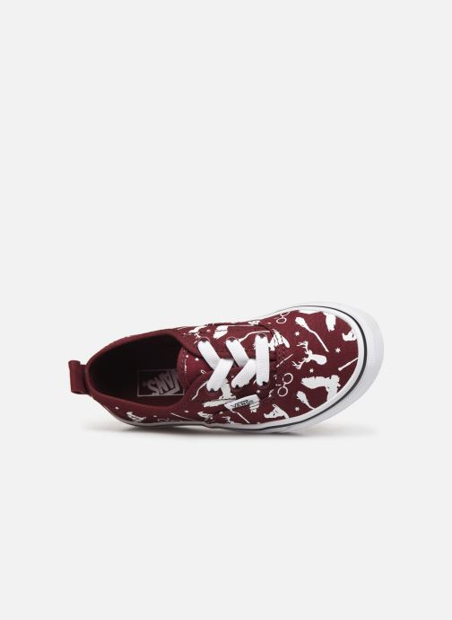 Baskets Vans Authentic Elastic Lace Bordeaux vue gauche