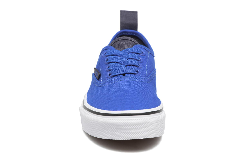 Sneaker Vans Authentic Elastic Lace blau schuhe getragen