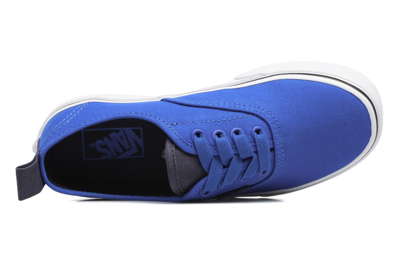 Sneaker Vans Authentic Elastic Lace blau ansicht von links
