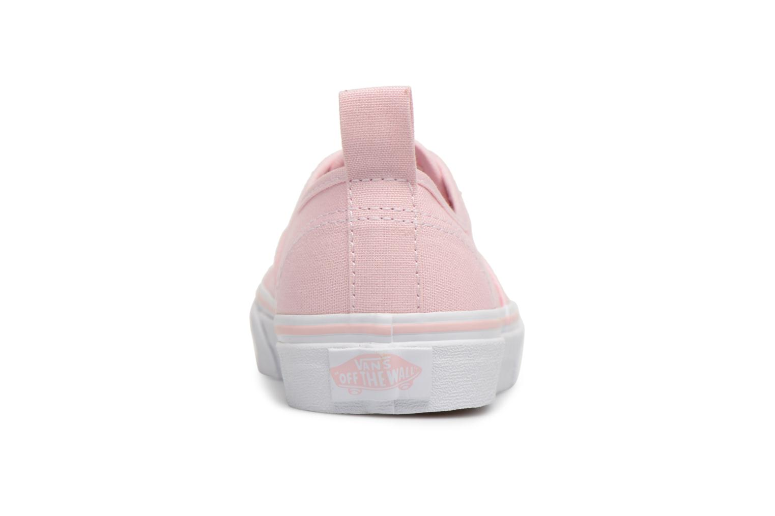Sneakers Vans Authentic Elastic Lace Roze rechts
