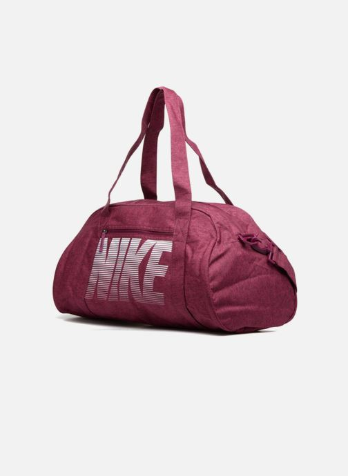 Sacs de sport Nike Women's Nike Gym Club Training Duffel Bag Rose vue portées chaussures