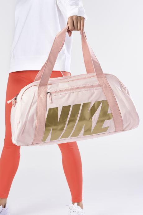Bolsas de deporte Nike Women's Nike Gym Club Training Duffel Bag Rosa vista de abajo