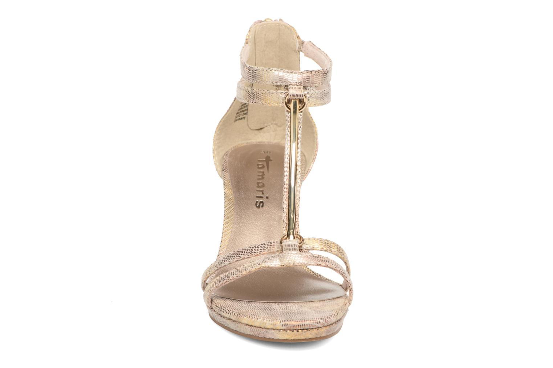 Sandali e scarpe aperte Tamaris Lepanthès Oro e bronzo modello indossato