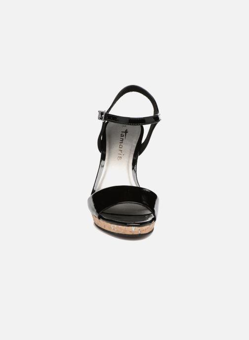 Sandales et nu-pieds Tamaris Espotoa Noir vue portées chaussures