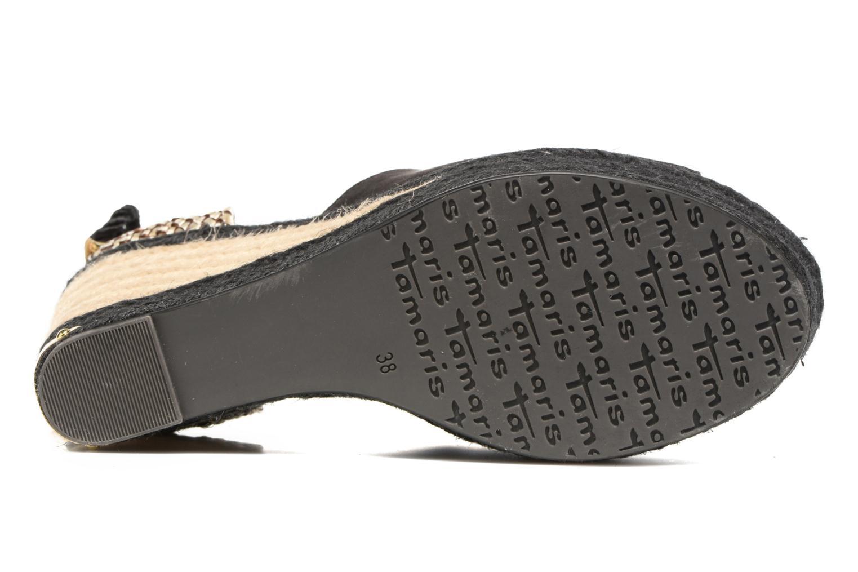 Sandales et nu-pieds Tamaris Yuzu Noir vue haut