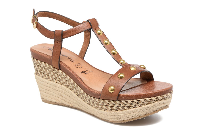 Sandaler Tamaris Linnia Brun detaljeret billede af skoene