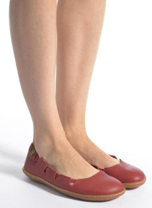 Ballerinas El Naturalista El Viajero N5272 grau ansicht von unten / tasche getragen