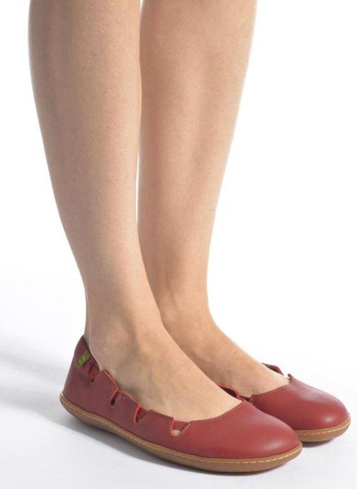 Ballet pumps El Naturalista El Viajero N5272 Red view from underneath / model view
