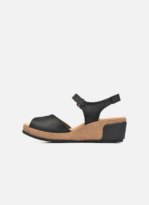 Sandali e scarpe aperte El Naturalista Leaves N5000 Nero immagine frontale