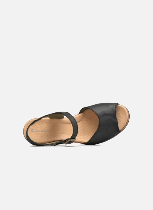 Sandals El Naturalista Leaves N5000 Black view from the left