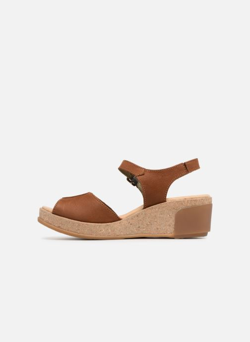 Sandales et nu-pieds El Naturalista Leaves N5000 Marron vue face