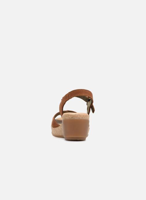 Sandales et nu-pieds El Naturalista Leaves N5000 Marron vue droite