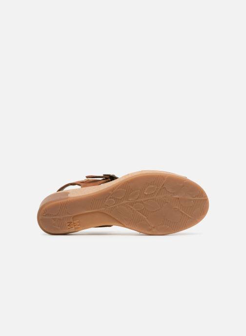 Sandali e scarpe aperte El Naturalista Leaves N5000 Marrone immagine dall'alto
