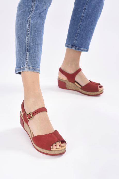 Sandales et nu-pieds El Naturalista Leaves N5000 Rouge vue bas / vue portée sac