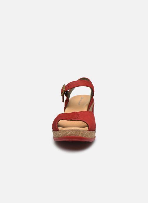 Sandalen El Naturalista Leaves N5000 rot schuhe getragen