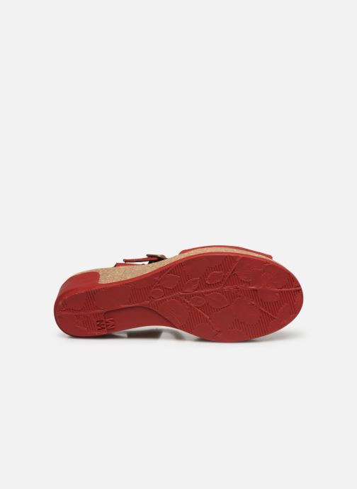 Sandalias El Naturalista Leaves N5000 Rojo vista de arriba