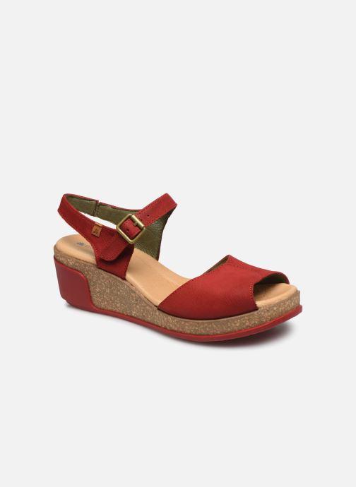 Sandales et nu-pieds El Naturalista Leaves N5000 Rouge vue détail/paire