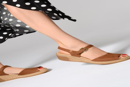 Sandales et nu-pieds El Naturalista Leaves N5000 Orange vue bas / vue portée sac