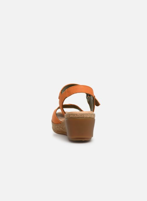 Sandals El Naturalista Leaves N5000 Orange view from the right