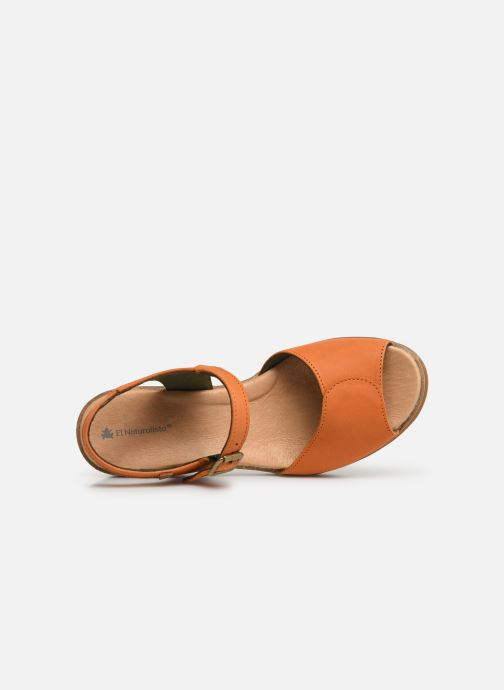 Sandals El Naturalista Leaves N5000 Orange view from the left