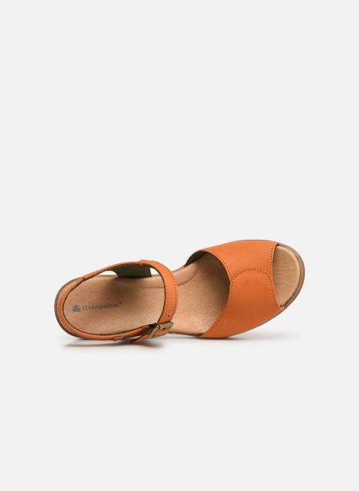 Sandales et nu-pieds El Naturalista Leaves N5000 Orange vue gauche
