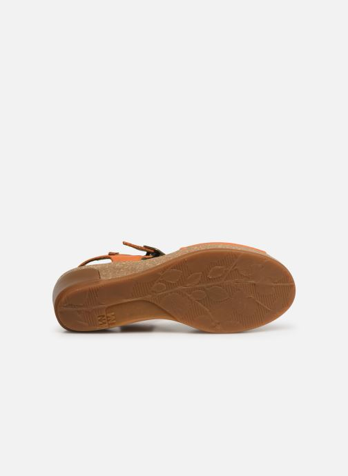 Sandales et nu-pieds El Naturalista Leaves N5000 Orange vue haut