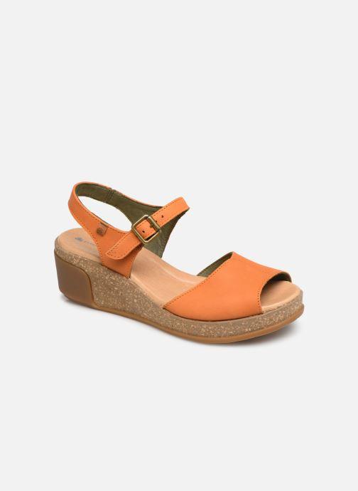 Sandals El Naturalista Leaves N5000 Orange detailed view/ Pair view