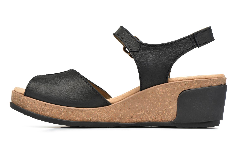 Sandales et nu-pieds El Naturalista Leaves N5000 Noir vue face