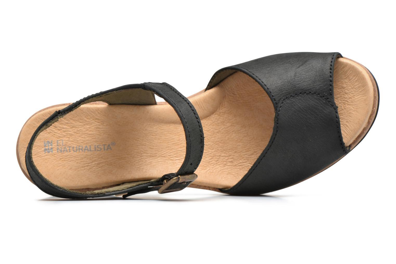 Sandales et nu-pieds El Naturalista Leaves N5000 Noir vue gauche