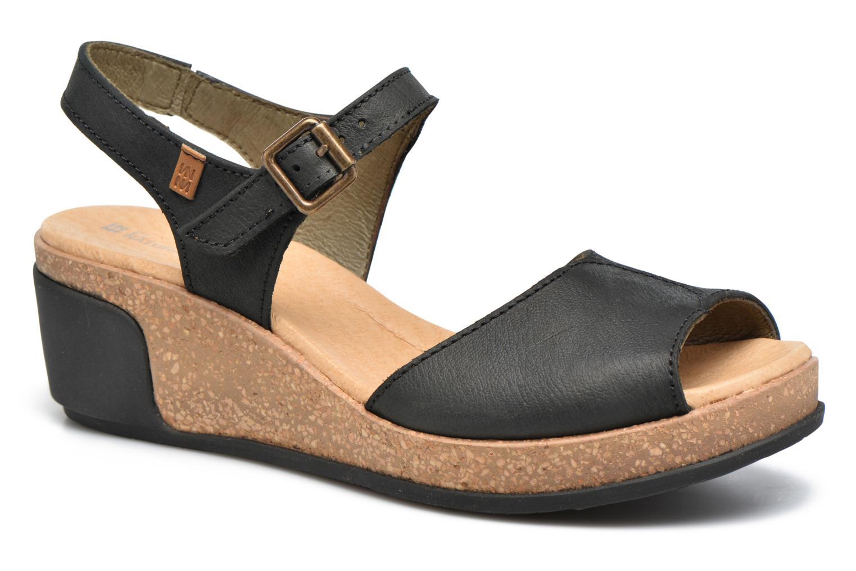 Sandales et nu-pieds El Naturalista Leaves N5000 Noir vue détail/paire